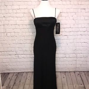 Morgan and Co Floor Length Formal Black Dress